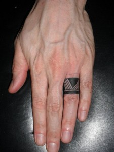 Tribal Ring Finger Tattoos