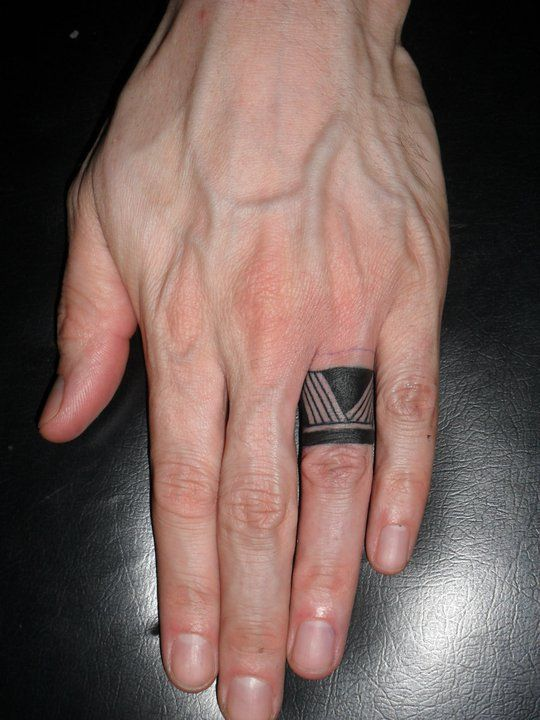 9 Awesome Tribal Finger Tattoos