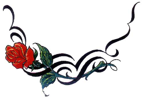 Tribal Rose Design