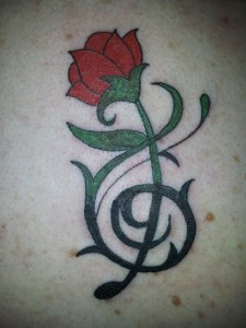 Tribal Rose Tattoo Pictures