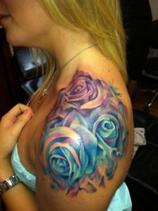 Tribal Rose Tattoo Shoulder