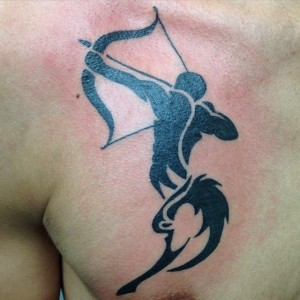 Tribal Sagittarius Tattoos