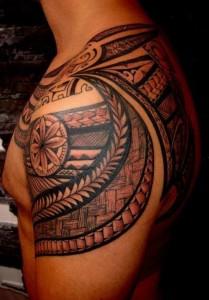 Tribal Shoulder Blade Tattoos