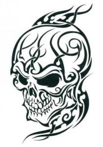 Tribal Skull Tattoos