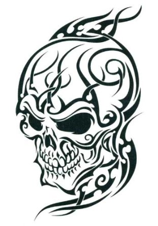 25 Cool Tribal Skull Tattoos Only