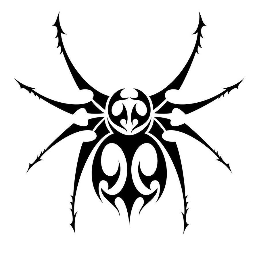10 stunning tribal spider tattoos only tribal for Images of tribal tattoos