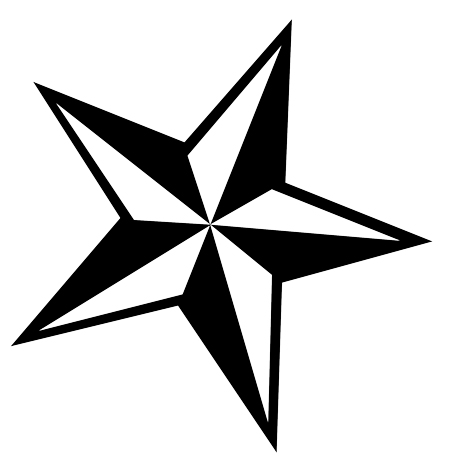 16 stuning tribal star tattoos only tribal for Nautical star tattoo design