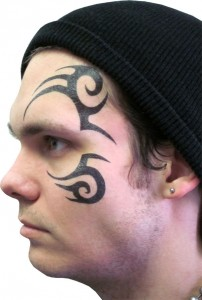 Tribal Tattoo Face