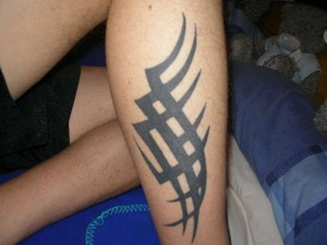 Tribal Tattoo Leg