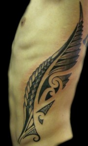 Tribal Tattoo Ribs