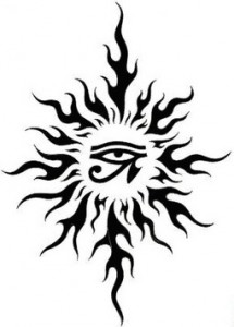 Tribal Tattoo Sun
