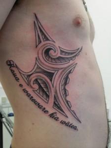 Tribal Tattoo on Ribs