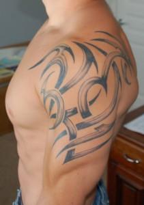 Tribal Tattoo on Shoulder