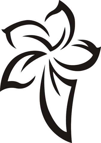 22 amazing tribal flower tattoos only tribal. Black Bedroom Furniture Sets. Home Design Ideas