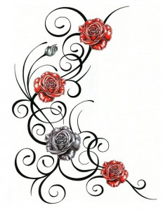 Tribal Tattoos with Roses