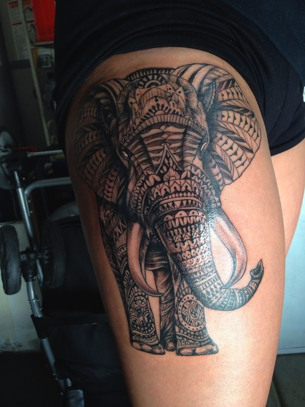 Tribal Tattoo Website: 16 Awesome Tribal Thigh Tattoos