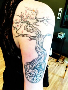 Tribal Tree Forearm Tattoo