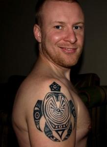 Tribal Turtle Tattoos for Men