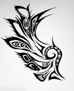 Wing Tribal Tattoo