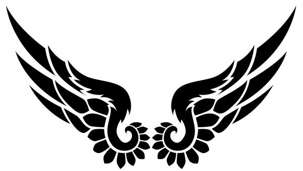18 Beautiful Tribal Wings Tattoos
