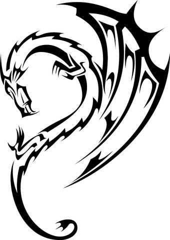 22 beautiful tribal dragon tattoo only tribal. Black Bedroom Furniture Sets. Home Design Ideas