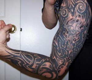 Full Arm Tribal Tattoo
