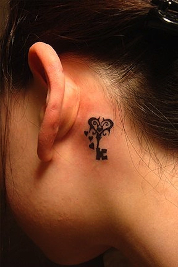 18 cool tribal tattoos for women only tribal for Small heart tattoos