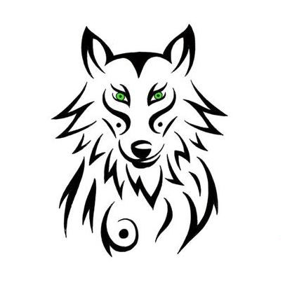 db8a3eb50d2a9 18 Awesome Tribal Wolf Tattoo