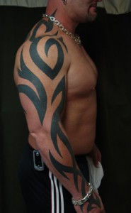 Tribal Arm Sleeve Tattoo