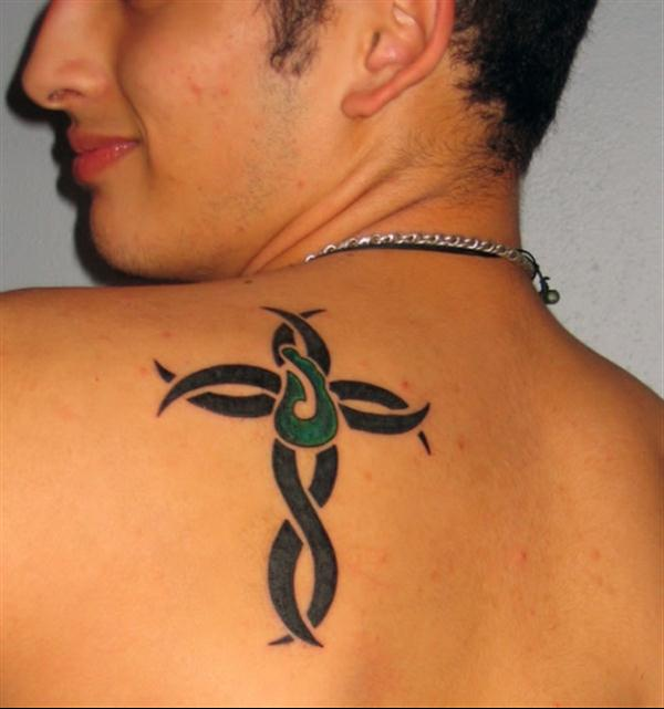 Ideas And Designs For Guys: 22 Beautiful Tribal Cross Tattoos
