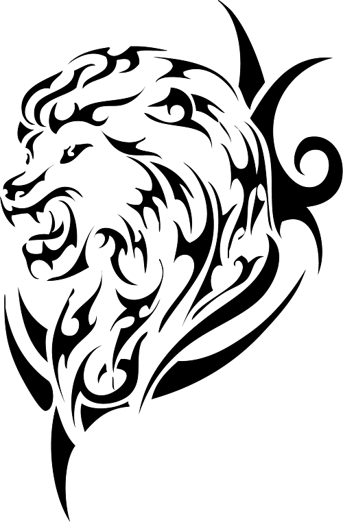 18 Magnificent Tribal Lion Tattoo Only