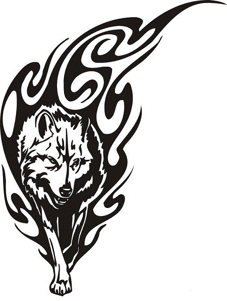 18 awesome tribal wolf tattoo only tribal for Tribal wolf tattoo