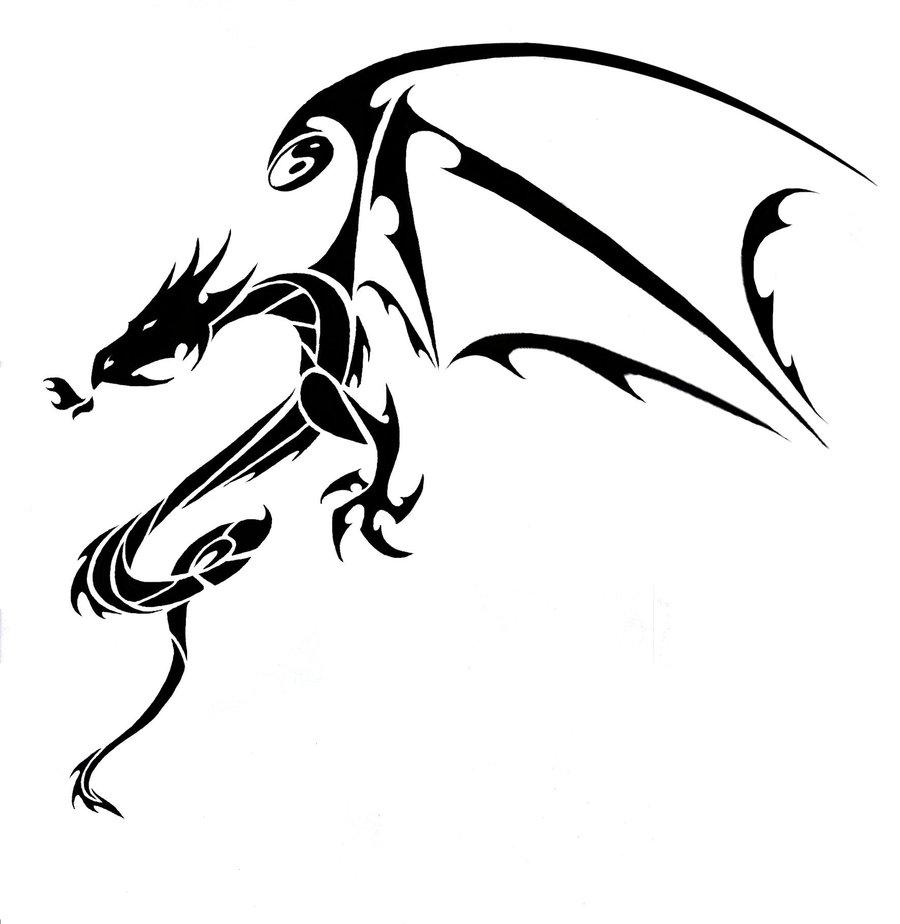Tribal-Tattoos Tribal-Tattoos-Dragon