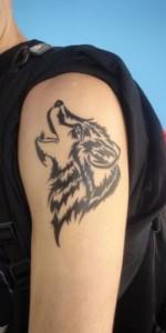Tribal Wolf Tattoo Arm