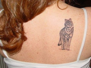 Tribal Wolf Tattoo for Women