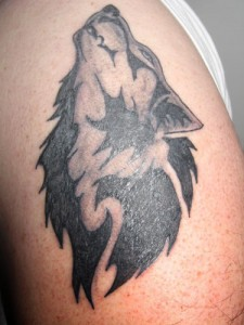 Tribal Wolf Tattoos for Men