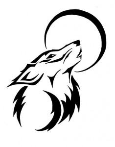 Wolf Tribal Tattoo Designs