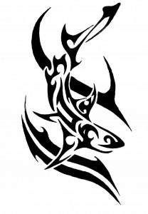 Aquarius Tribal Tattoo Pictures
