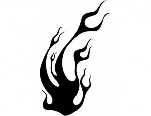 Black Tribal Flame Tattoos