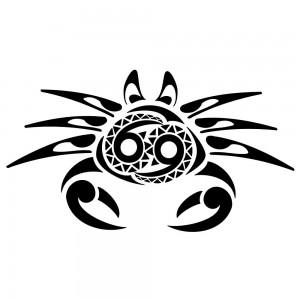 Cancer Zodiac Tribal Tattoos