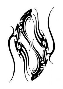 Pisces Tattoo Tribal