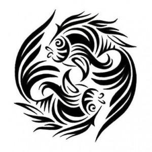 Pisces Tribal Tattoo