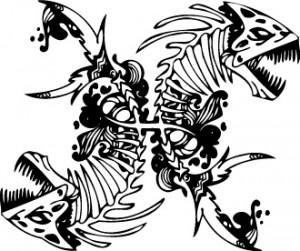 Pisces Tribal Tattoos Designs