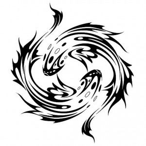 Pisces Tribal Tattoos