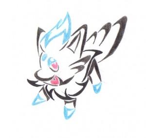 Pokemon Tribal Tattoo Color