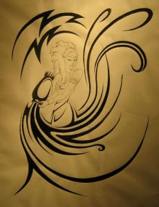 Tribal Aquarius Tattoo