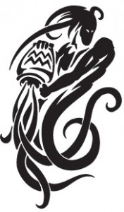 Tribal Aquarius Tattoos