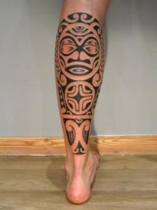 Tribal Calf Tattoo Designs