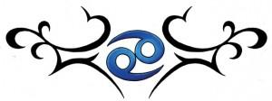 Tribal Cancer Symbol Tattoos