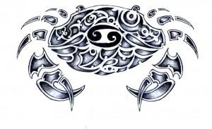 Tribal Cancer Zodiac Tattoos